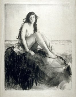 Nude on a Rock by the Seaside