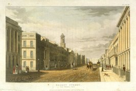 Regent Street from Waterloo Palace No.80 from R. Ackermann's Repository of Arts