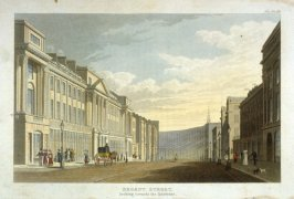 Regent Street looking towards the Quadrant from R. Ackermann's Repository of Arts