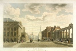 Pall Mall from R. Ackermann's Repository of Arts