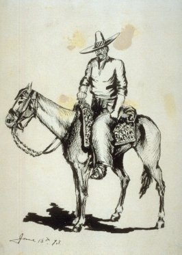 Untitled (Mexican on horseback)