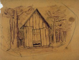 Untitled (Sketch of a Barn)