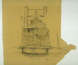 Sketch of a River Steamer