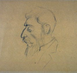 Sketch of head of bearded man