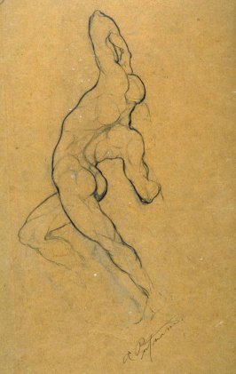 Untitled (Recto: Study of Nude Male Model, Verso: Study of Nude Male Model)