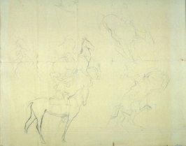 Studies of cowboys on horseback