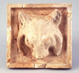 Relief with lynx head