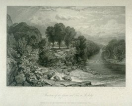 Junction of the Greta and Tees at Rokeby, from Whitaker's 'History of Richmondshire' (London, 1819-1823) Vol.I