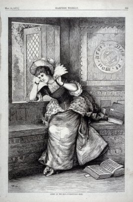 Queen of the May - unpropitious skies -from Harper's Weekly (May 12, 1877), p. 365
