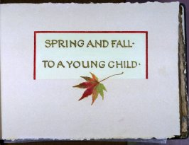 Title page in the book Spring and Fall to a Young Child by Gerard Manley Hopkins