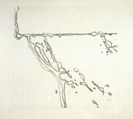 Untitled (rain), second plate in the book Dix poèmes /Ten Poems by Francis Ponge, tr. by Serge Gavronsky (San Francisco: Greenwood Press, 1983)