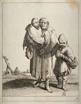 Woman beggar with children, no. 4 from series of 26 Beggars and Peasants