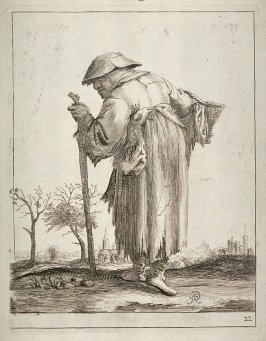 Beggar Woman with a Walking Stick, no. 22 from series of 26 Beggars and Peasants