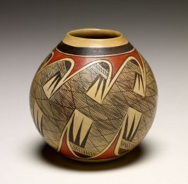 Miniature polychrome jar
