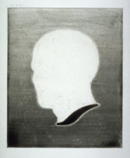 Working proof 8 for Untitled (Head-vase), unpublished