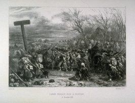 L'Armee Francaise passe; a Frontiere, Nov. 16