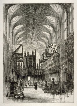 Interior of St. George's Chapel, Windsor Castle.