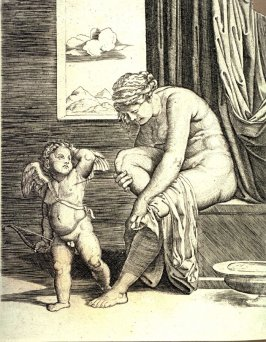 Venus After Her Bath, after Marcantonio Raimondi's engraving after Raphael