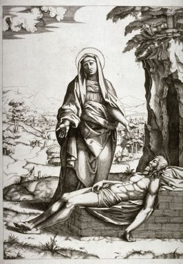 The Lamentation of the Virgin, after the engraving by Marcantonio Raimondi from a design by Raphael