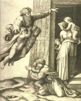 God Appearing to Noah, after Raphael's ceiling for the Stanza d'Eliodoro, Vatican, Rome