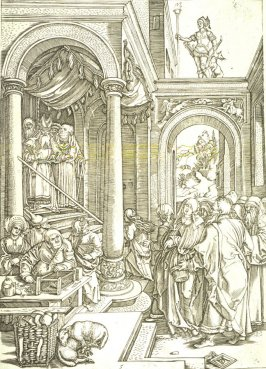 The Presentation of the Virgin, pl. 5 from the series The Life of the Virgin after the woodcuts by Albrecht Dürer