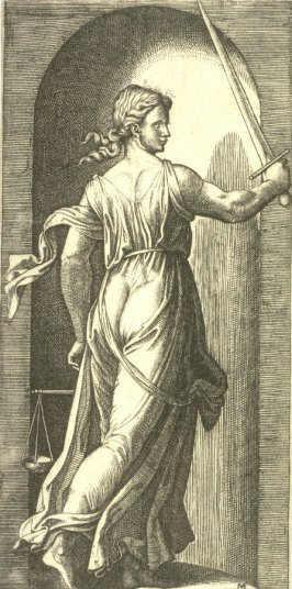 Justice, pl. 3 from the series The Seven Virtues after Raphael