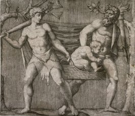Two Fauns Carrying a Child, after the Bas-relief in the Villa Albani