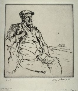 Portrait (man in cap, seated)