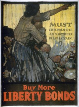 Must children die and mothers plead in vain - World War I Poster