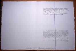 Untitled, pg. 29, in the book Traces suspectes en surface (Suspect Traces on the Surface) by Alain Robbe-Grillet (West Islip, NY: ULAE, 1978)