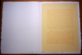 Untitled, pg. 28, in the book Traces suspectes en surface (Suspect Traces on the Surface) by Alain Robbe-Grillet (West Islip, NY: ULAE, 1978)