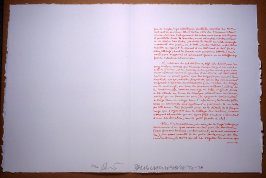 Untitled, pg. 26, in the book Traces suspectes en surface (Suspect Traces on the Surface) by Alain Robbe-Grillet (West Islip, NY: ULAE, 1978)
