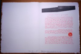 Untitled, pg. 9, in the book Traces suspectes en surface (Suspect Traces on the Surface) by Alain Robbe-Grillet (West Islip, NY: ULAE, 1978)