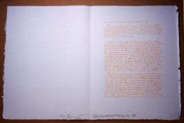 Untitled, pg. 4, in the book Traces suspectes en surface (Suspect Traces on the Surface) by Alain Robbe-Grillet (West Islip, NY: ULAE, 1978)