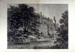 Warwick Castle, from Harper's Weekly,  (August 20. 1874)