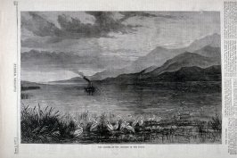 The Danube, at the junction of the Pruth - from Harper's Weekly,  (June 2, 1877), p. 433.