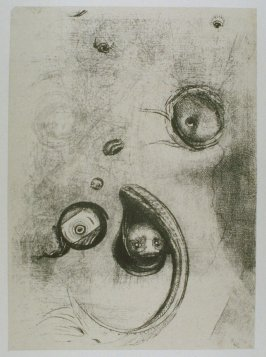 """Et que des yeux sans tete flottaient comme des mollusques"" (And that eyes without heads were floating like mollusks), plate XIII, btwn. pgs. 194 and 195, in the book La Tentation de Saint-Antoine (Editions Ambroise Vollard, 1938)"