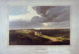 Cloudy effect, view of Carnavon North Wales, illustration to Cox's 'A Treatise on Landscape Painting & Effect in Watercolours' (London, 1814)