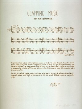 Clapping Music (A) from the set, Two Scores