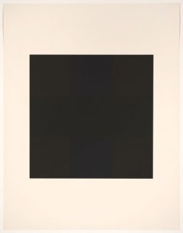 Untitled #10, from the portfolio 10 Screenprints by Ad Reinhardt