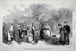 Tompkins Square, New York - .from Harper's Weekly, (September 13. 1873, p. 800