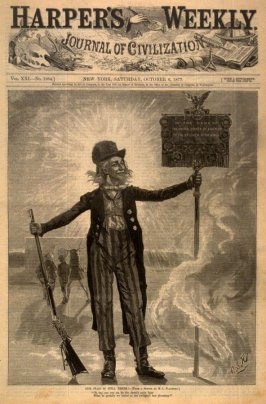 Our Flag Is Still Here! - Title page Harper's Weekly (6 October 1877)