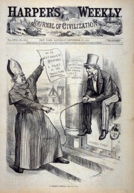 A Foreign Demand - from Harper's Weekly,  (September 27, 1873), cover page