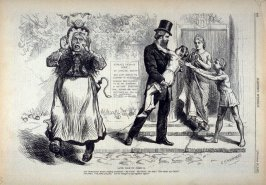 Saved from its Friend - from Harper's Weekly (October 20, 1877), p. 828