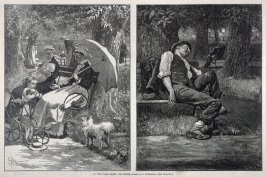 In the Park - Light and Shade - Two Illustrations p.805 Harper's Weekly 13 October 1877