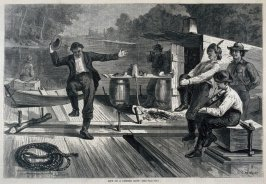 Life on a Lumber Raft - p.873 from Harper's Weekly 4 October 1873