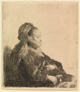An Elderly Woman Seated (Rembrandt's Mother)