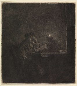 Student at a Table by Candlelight