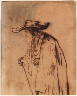 Study of a Bearded Old Man with a Wide-brimmed Hat