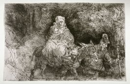 Flight into Egypt: crossing a brook